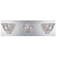 Zilli 3 Light 18 inch Chrome Bath Bar Wall Light