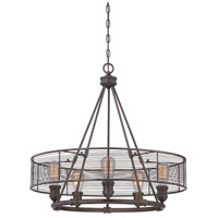 EuroFase 28065-012 Terra 5 Light 26 inch Bronze Chandelier Ceiling Light