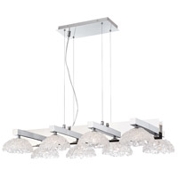 Caramico 8 Light 21 inch Chrome Chandelier Ceiling Light