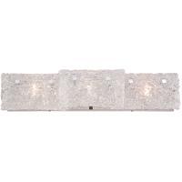 EuroFase 28140-016 Caramico 3 Light 27 inch Chrome Vanity Light Wall Light