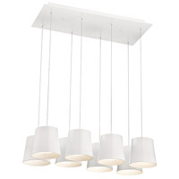 EuroFase 28163-015 Borto LED 13 inch White Chandelier Ceiling Light