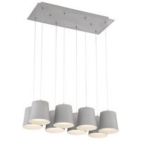 EuroFase 28163-039 Borto LED 13 inch Grey Chandelier Ceiling Light