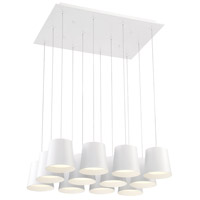 EuroFase 28164-012 Borto LED 20 inch White Chandelier Ceiling Light