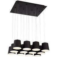 EuroFase 28164-029 Borto LED 20 inch Black Chandelier Ceiling Light