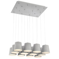 EuroFase 28164-036 Borto LED 20 inch Grey Chandelier Ceiling Light