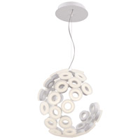EuroFase 28182-016 Glendale LED 20 inch White Chandelier Ceiling Light