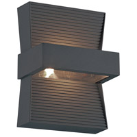 EuroFase 28279-020 Mill LED 7 inch Graphite Grey Outdoor Wall Sconce