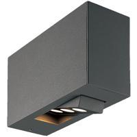 EuroFase 28280-026 Oscar LED 5 inch Graphite Grey Outdoor Wall Sconce