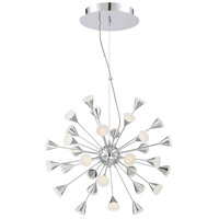 Esplo LED 25 inch Chrome Chandelier Ceiling Light