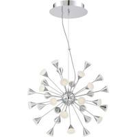 EuroFase 29027-019 Esplo LED 25 inch Chrome Chandelier Ceiling Light