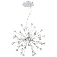 Esplo LED 33 inch Chrome Chandelier Ceiling Light