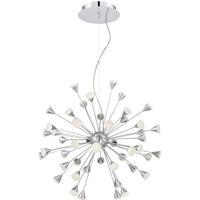 EuroFase 29029-013 Esplo LED 33 inch Chrome Chandelier Ceiling Light