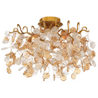 Campobasso 5 Light 21 inch Gold Flush Mount Ceiling Light