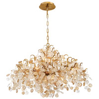 EuroFase 29059-010 Campobasso 8 Light 26 inch Gold Chandelier Ceiling Light