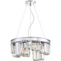 EuroFase 29078-011 Lumino 8 Light 19 inch Chrome Chandelier Ceiling Light