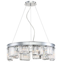 EuroFase 29079-018 Lumino 10 Light 26 inch Chrome Chandelier Ceiling Light