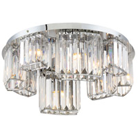 EuroFase 29081-011 Lumino 8 Light 19 inch Chrome Flush Mount Ceiling Light