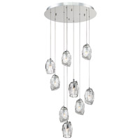 Diffi 9 Light 22 inch Polished Chrome Chandelier Ceiling Light