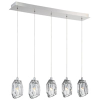 Diffi 5 Light 6 inch Polished Chrome Chandelier Ceiling Light