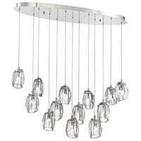 Diffi 13 Light 13 inch Polished Chrome Chandelier Ceiling Light