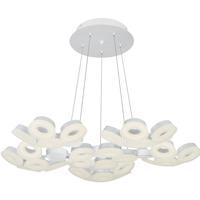 EuroFase 29094-011 Glendale LED 35 inch White Chandelier Ceiling Light