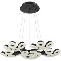 EuroFase 29094-028 Glendale LED 35 inch Black Chandelier Ceiling Light