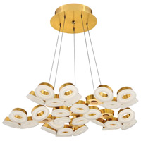 EuroFase 29094-035 Glendale LED 35 inch Gold Chandelier Ceiling Light