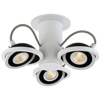 Vision 3 Light 120V White Track Ceiling Light