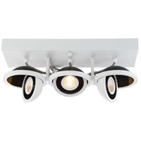EuroFase 29488-018 Vision 3 Light 30V White/Black Track Ceiling Light