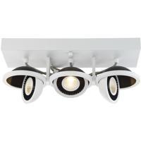 EuroFase 29488-018 Vision LED 5 inch White and Black Flush Mount Ceiling Light