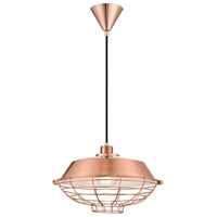 EuroFase 30012-028 London 1 Light 14 inch Copper Pendant Ceiling Light