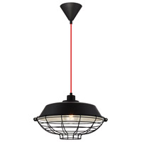 London 1 Light 14 inch Black Pendant Ceiling Light