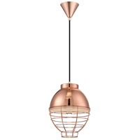 Brampton 1 Light 10 inch Copper Pendant Ceiling Light