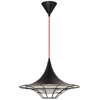 Windsor 1 Light 18 inch Black Pendant Ceiling Light