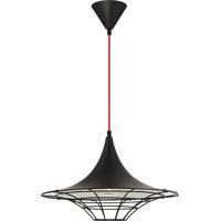 EuroFase 30015-036 Windsor 1 Light 18 inch Black Pendant Ceiling Light