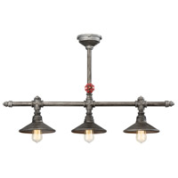 Zinco 3 Light 8 inch Aged Silver Chandelier Ceiling Light