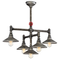 Zinco 5 Light 30 inch Aged Silver Chandelier Ceiling Light