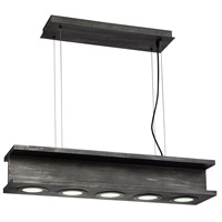 EuroFase 30034-013 Fascio LED 8 inch Rustic Black Pendant Ceiling Light