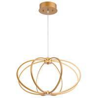 EuroFase 30035-010 Leggero LED 23 inch Gold Pendant Ceiling Light