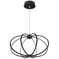 Leggero LED 23 inch Black Aluminum Pendant Ceiling Light