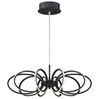 Tela LED 25 inch Black Aluminum Pendant Ceiling Light
