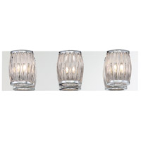 EuroFase 30044-012 Barile 3 Light 18 inch Chrome Vanity Light Wall Light
