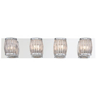 EuroFase 30045-019 Barile 4 Light 25 inch Chrome Vanity Light Wall Light