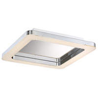 EuroFase 30063-013 Zatina LED 14 inch Chrome Flush Mount Ceiling Light Small