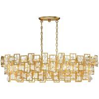 EuroFase 30070-011 Elrose 5 Light 17 inch Gold Chandelier Ceiling Light