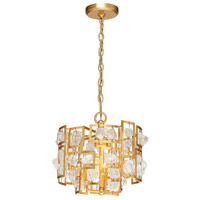 EuroFase 30072-015 Elrose 3 Light 13 inch Gold Pendant Ceiling Light