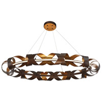 EuroFase 30079-014 Banderia LED 44 inch Bronze Chandelier Ceiling Light Large