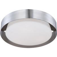 EuroFase 30105-027 Saturn LED 16 inch Nickel Flush Mount Ceiling Light