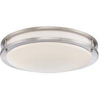 EuroFase 30124-35-011 Warden 14 inch Satin Nickel Flush Mount Ceiling Light Small