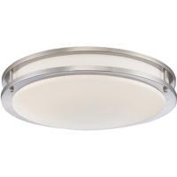 EuroFase 30126-30-015 Warden 18 inch Satin Nickel Flush Mount Ceiling Light Large